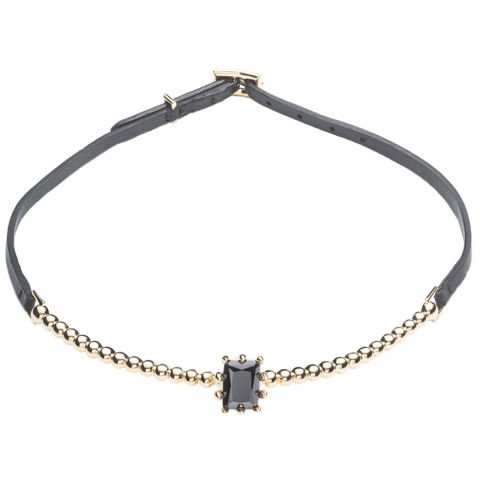 Up the ante on a simple black string with some gem appeal.Eddie Borgo collar, $200, shopBAZAAR.com.