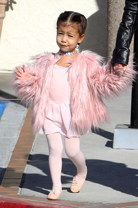 North West has been seen in custom Fallon necklaces on more than one occasion, including post-ballet.