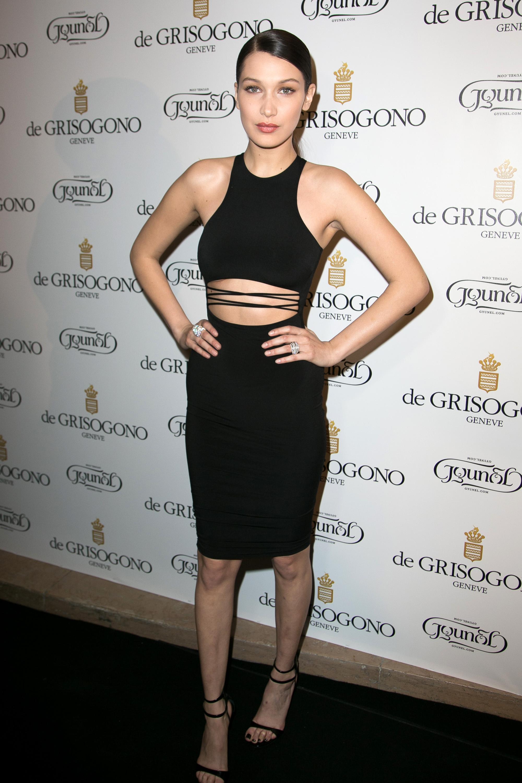 Bella Hadid cut out dress