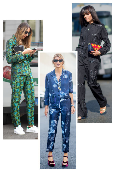 Forget day-to-night—this around-the-clock trend comes straight from the bedroom. Pajama dressing is a blissful marriage of style and comfort. Choose cool prints in silky fabrics finished off with quirky accessories like geometric platforms.
