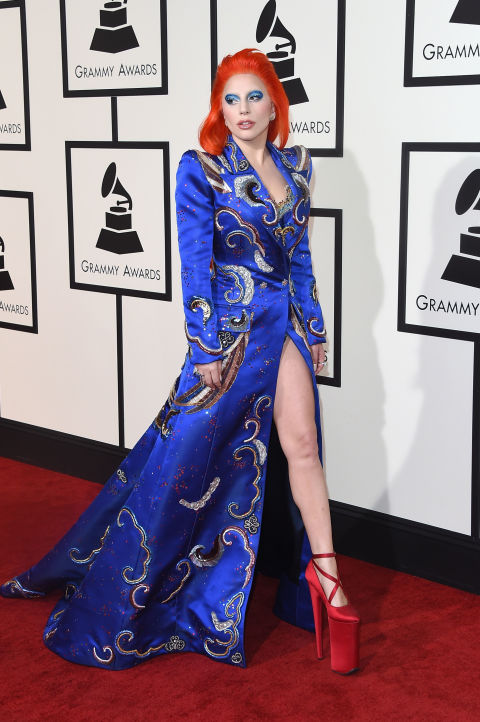 Lady Gaga David Bowie Tribute Performance Grammys 2016