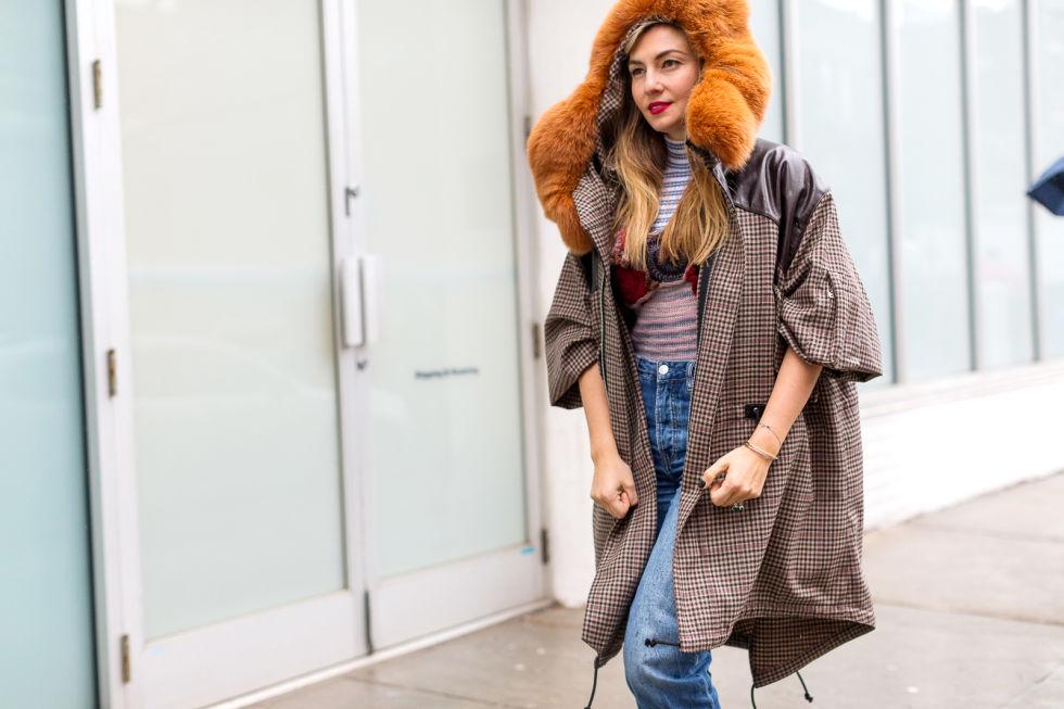 Nasiba Adilova in Rodarte coat