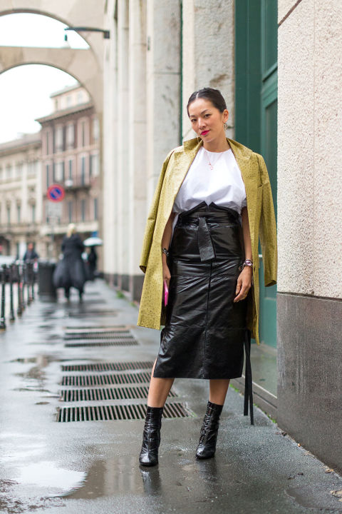 Salvatore Ferragamo top & skirt