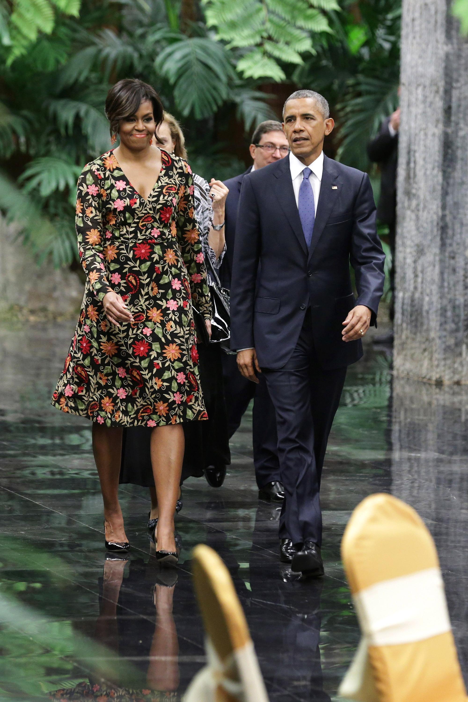 michelle obamas fashion in cuba michelle obama style