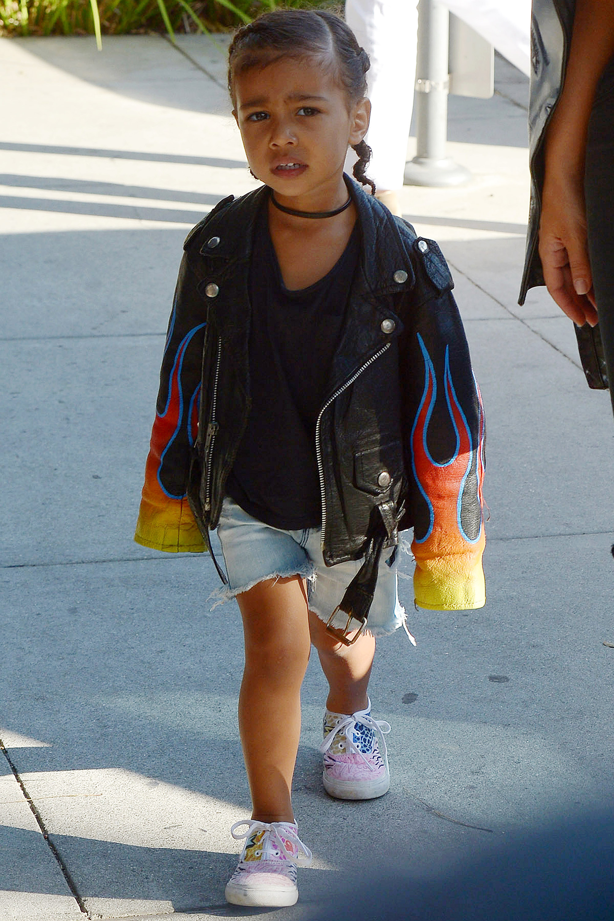 North West And Kim Kardashian Matching Outfits North