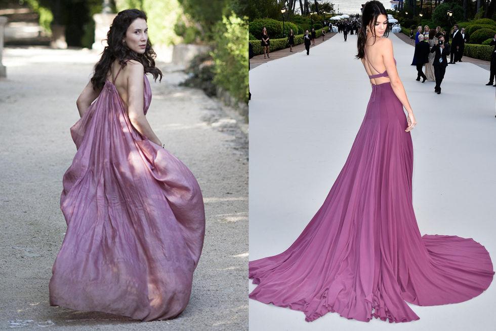 Shae: Fleeing King's Landing Kendall Jenner: In custom Calvin Klein at the Cannes Film Festival in 2015