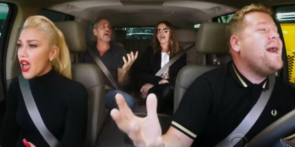 George Clooney & Julia Roberts Join Gwen Stefani for Carpool Karaoke With James Corden