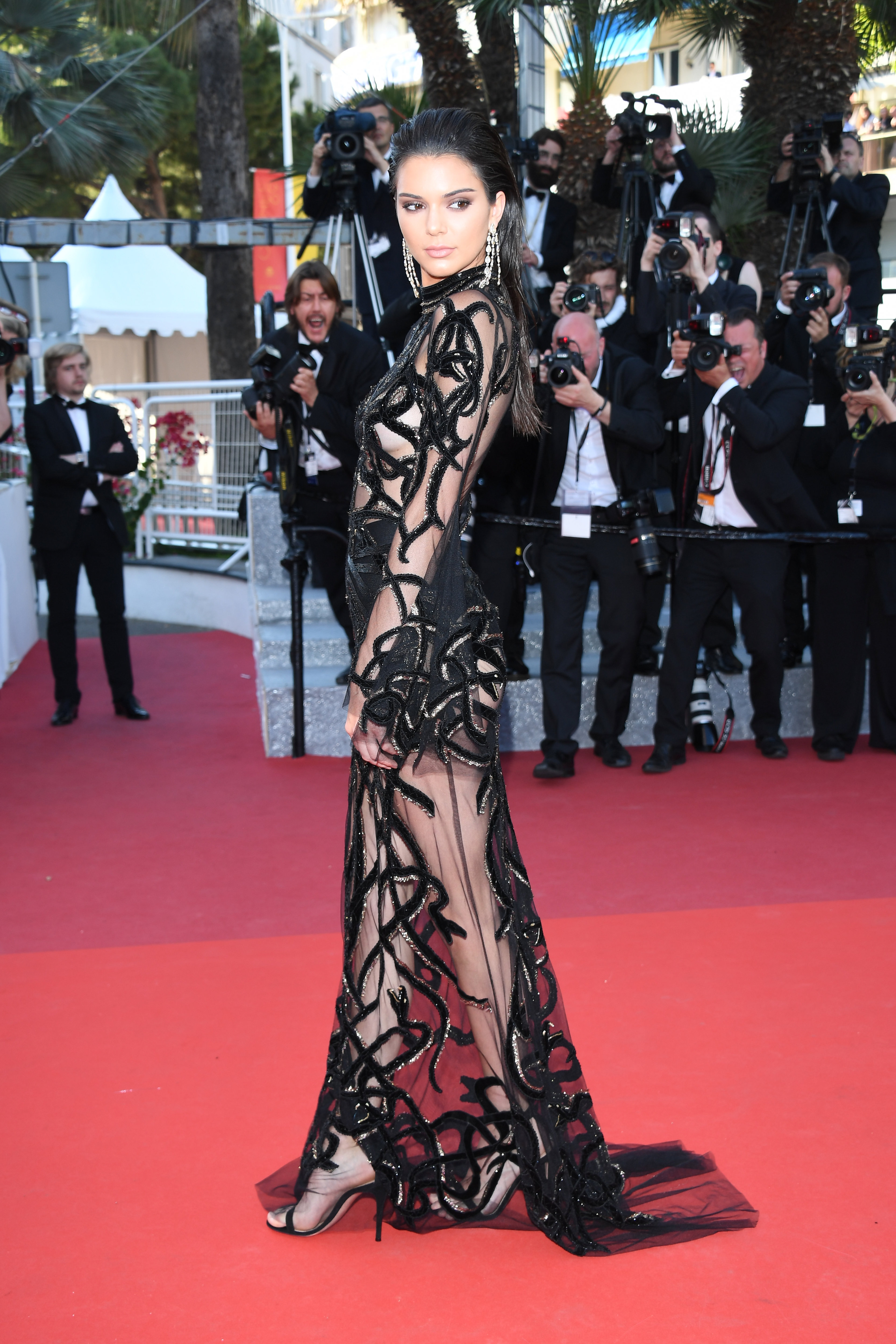 Kendall Jenner Rocked A Naked Dress On The Cannes Red Carpet