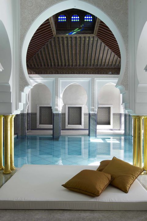 The pool at La Mamounia in Marrakech, Morocco.