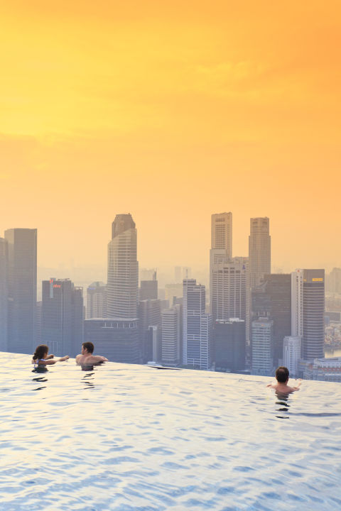 The pool at Marina Bay Sands Hotel in Singapore