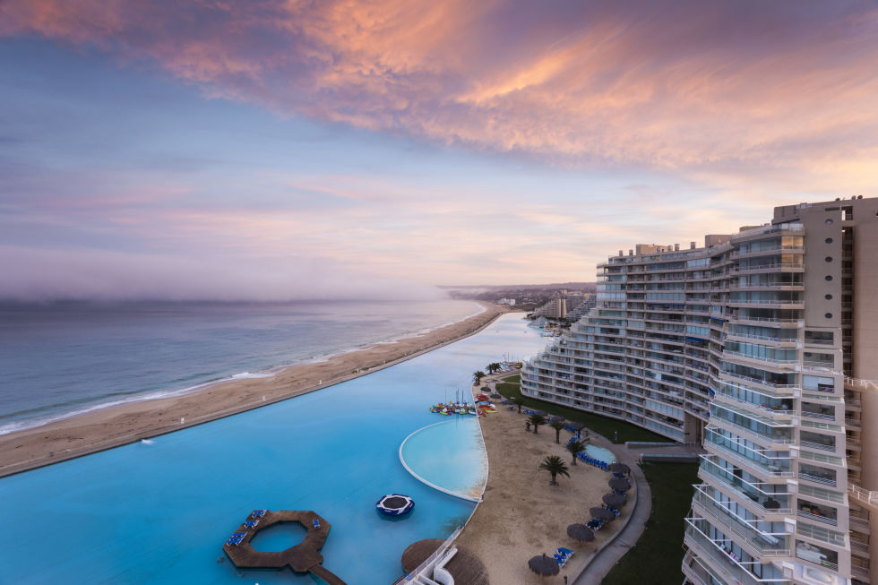 The pool at San Alfonso del Mar in Chile