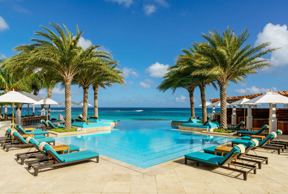 The infinity pool at Zemi Beach House in Anguilla
