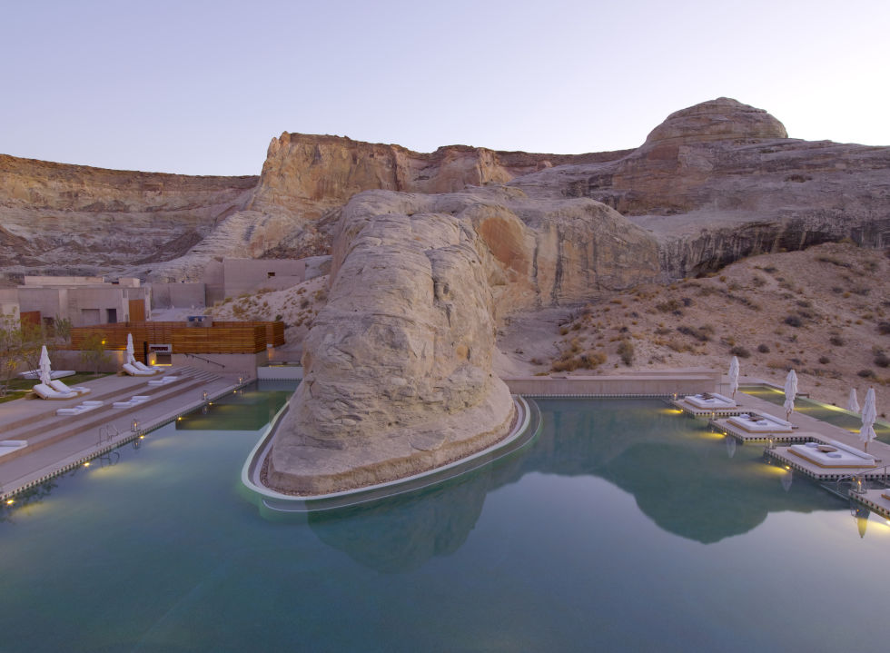 The pool at Amangiri Hotel in Utah
