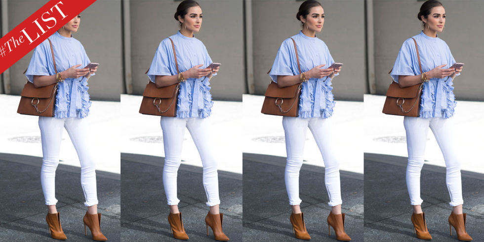 How to Wear White Denim - Celebrities in White Jeans