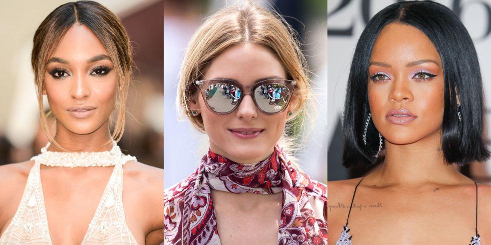 Pleasing 10 Best Middle Part Hairstyles 10 Ways To Wear A Center Hair Part Short Hairstyles Gunalazisus