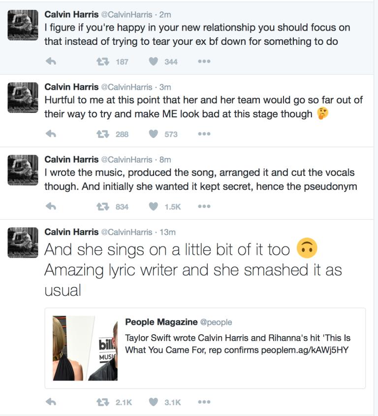 Calvin Harris Twitter