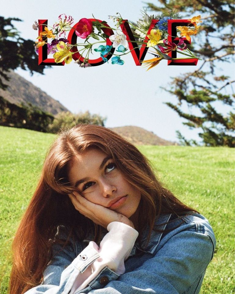 Image result for love magazine cover kaia gerber