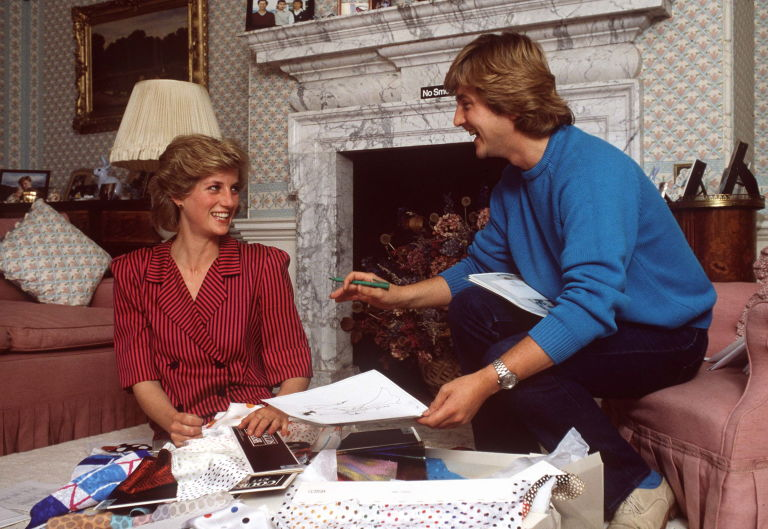 Princess Diana David Emanuel Wedding Dress Sketch   Harper's BAZAAR