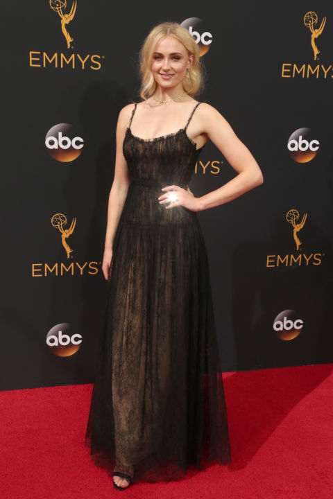 Sophie Turner in Valentino dress and Forevermark jewelry