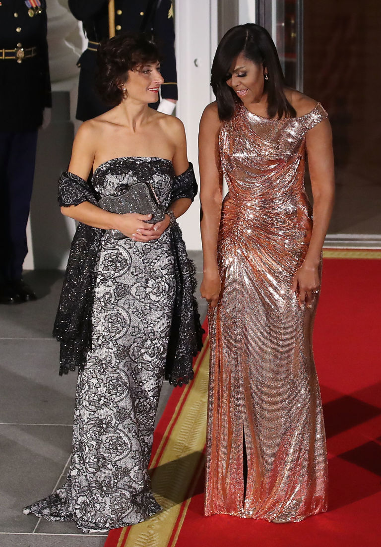 Image result for Michelle Obama's Stunning Atelier Versace Dress