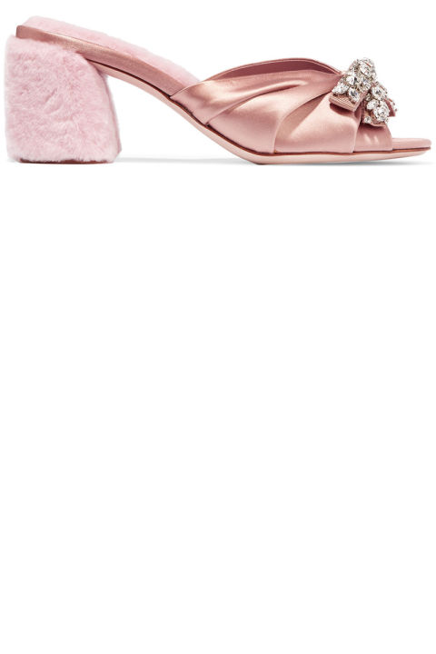 Miu Miu sandals, $950, net-a-porter.com.