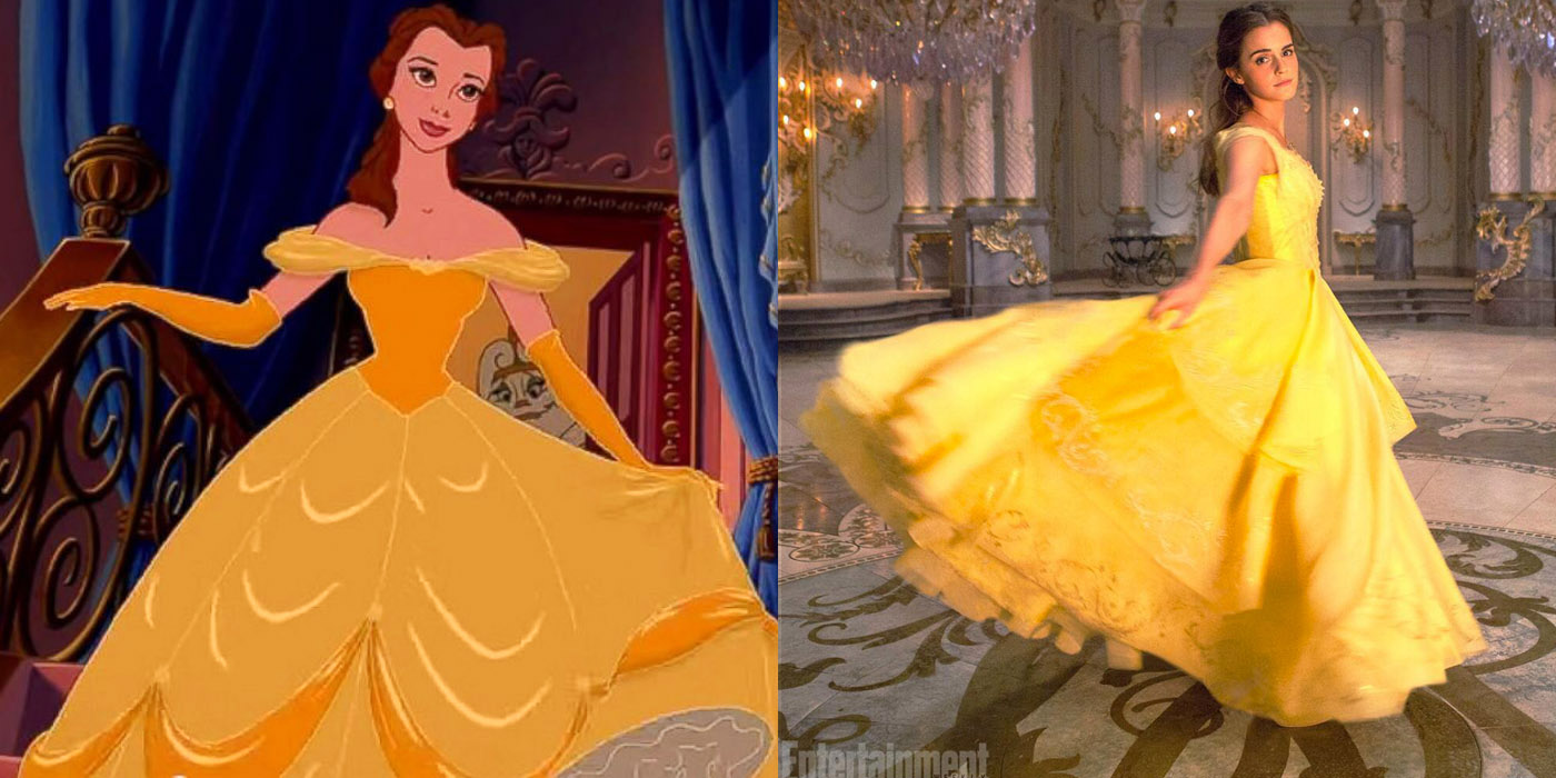 How Belles Iconic Yellow Dress Was Made For Emma Watson