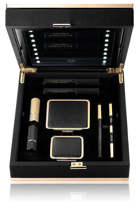 Eight pieces from the coveted Victoria Beckham Estée Lauder Makeup Collection in a limited edition box with a lighted mirror. It's essentially an entire vanity—makeup, lights, mirror and all. Estée Lauder Limited Edition Victoria Beckham Estée Lauder Victoria Beckham Collection Daylight Edition, $1,200, neimanmarcus.com