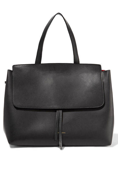 """""""It's time to trade in the trusty tote I lugged around the world for the past three years. I've had my eye on Mansur Gavriel's Lady bag for awhile and 2017 is the year I'm giving in to desire.""""Mansur Gavriel bag, $895, net-a-porter.com."""
