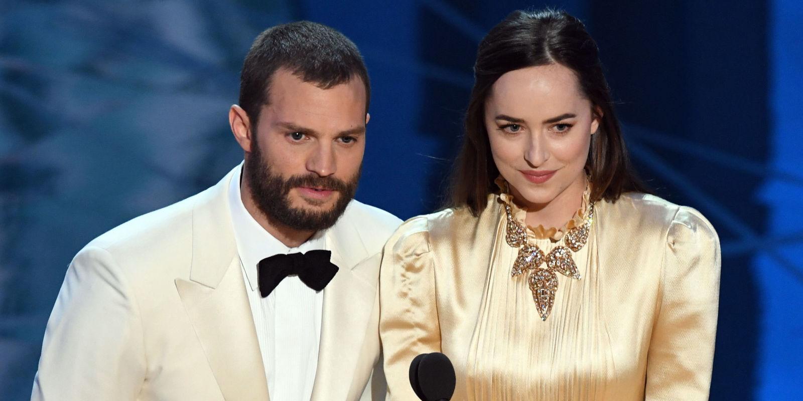 Dakota Johnson and Jamie Dornan's Awkwardness Reached a Climax at the Oscars