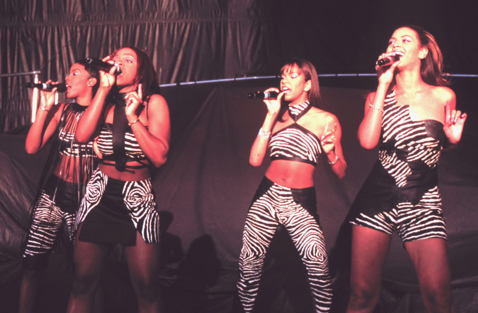 Here's Bey performing with Destiny's Child at one of the band's first-ever shows (this one was in Mountain View, California) on their 1998 tour—back when the girls all wore coordinating outfits.