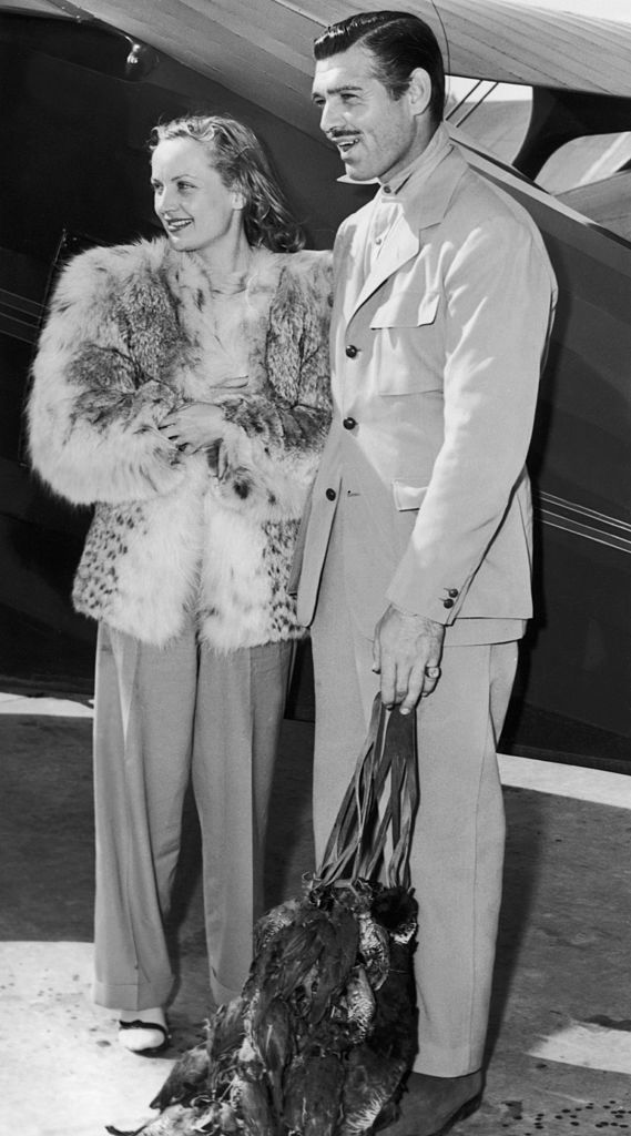 Clarke Gable and Carole Lombard