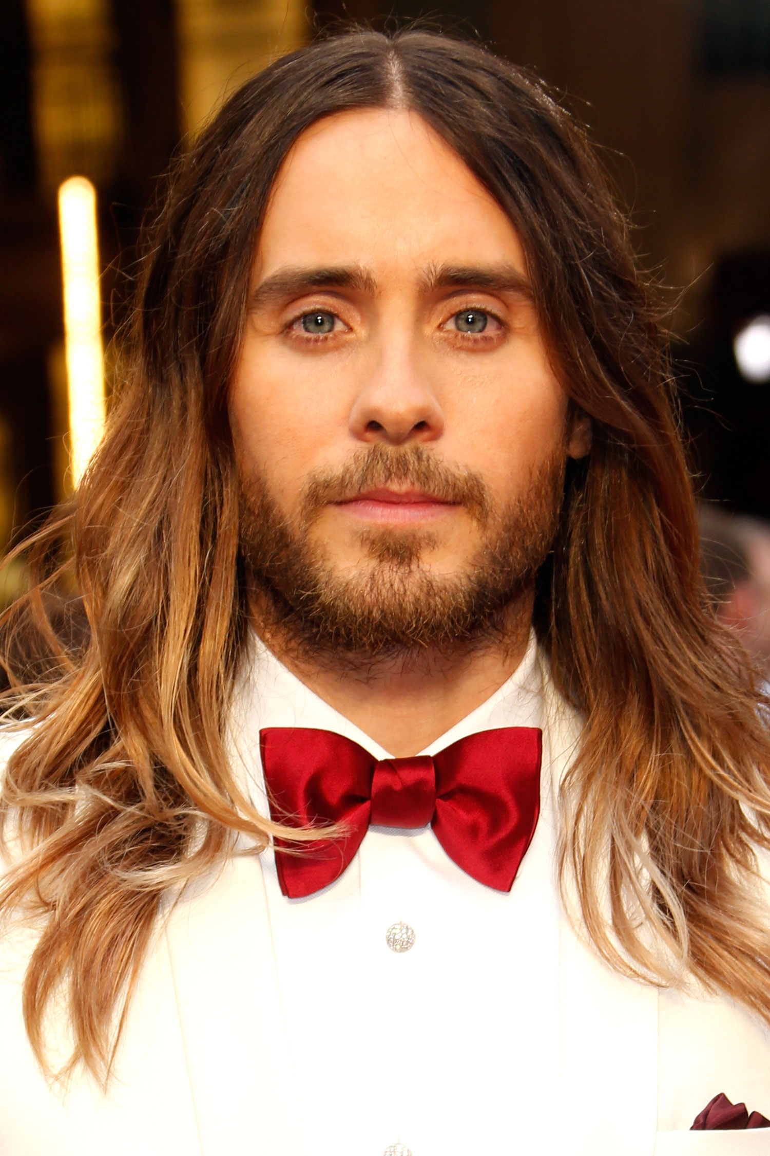 Jared Leto Ombre Long Hair 2014 - Jared Leto's Oscar Hair