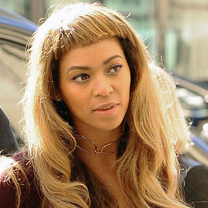Fine Beyonce39S Short New Bangs Beyonce39S New Haircut Short Hairstyles For Black Women Fulllsitofus
