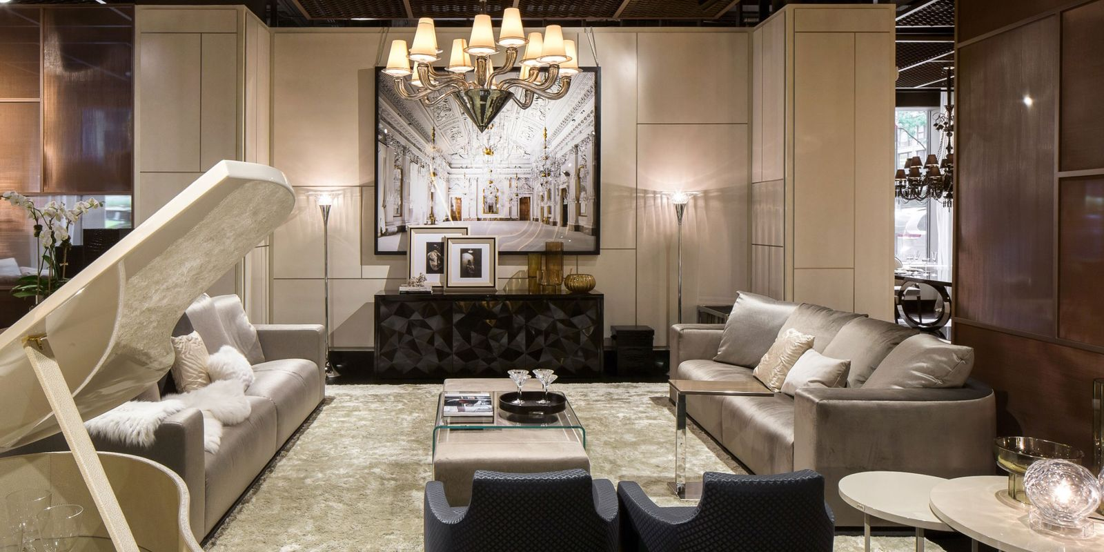 Luxury living opens new york showroom luxury living and for Sofas in nyc