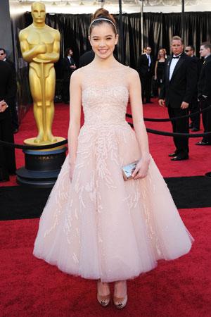 Hailee Steinfeld 2011 Oscar Dress Marchesa Oscars On