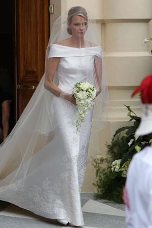 Charlene Wittstock Giorgio Armani Wedding Dress Picture