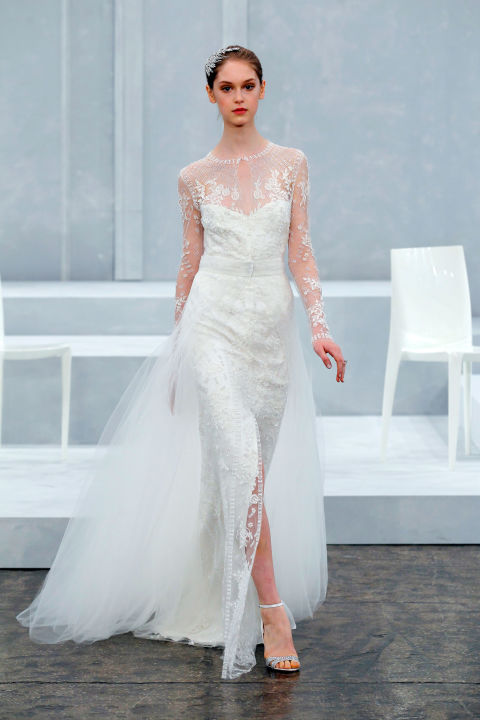 Tulle and lace wedding dress
