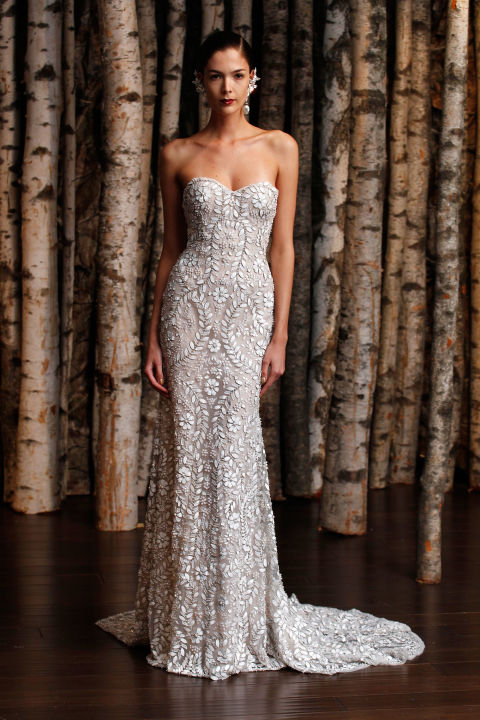 Column wedding dress