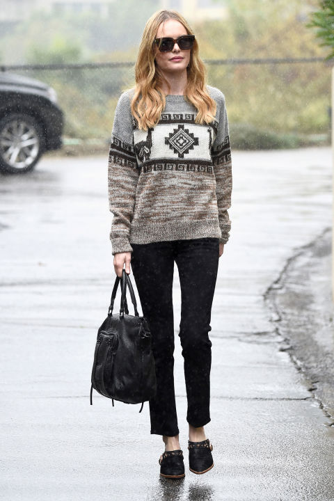 The Takeaway:: When in doubt, a knit with personality does the trick.