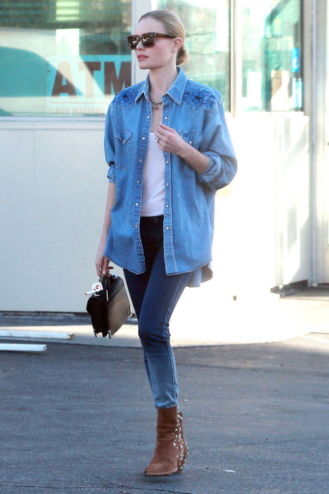 The Canadian Tuxedo never looked so chic on Kate Bosworth.