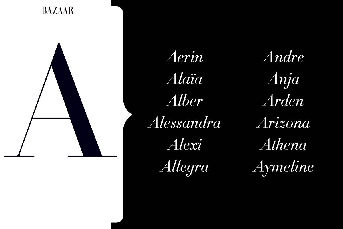 100 Unique Baby Names For 2015 Inspired By Fashion