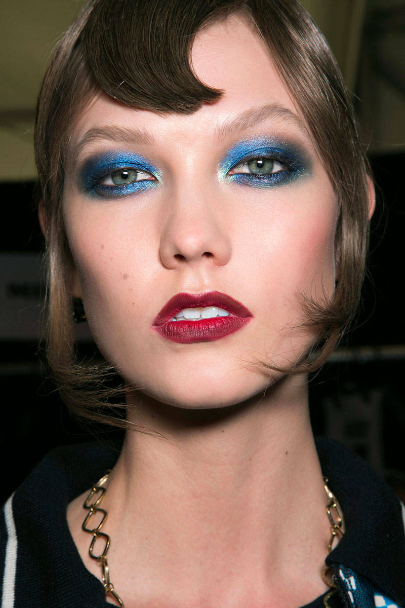 Blue Eye Makeup For Fall 2014