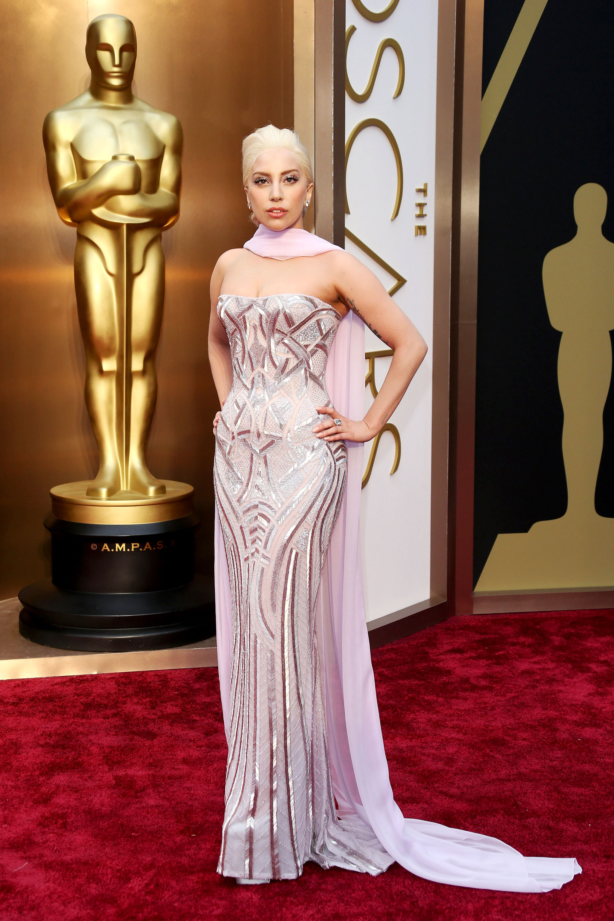Image result for Lady Gaga white bodysuit/gown in 2016