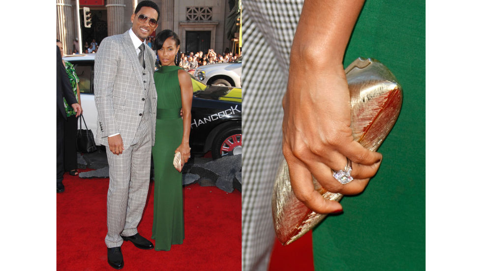 Will Smith proposed to Jada Pinkett with this emerald-cut diamond in 1997.