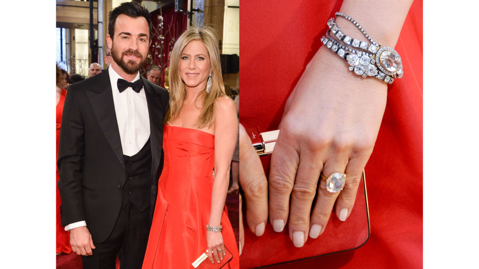 Justin Theroux gave Aniston an emerald-cut diamond ring in August 2012, and the couple is set to tie the knot some time this year.