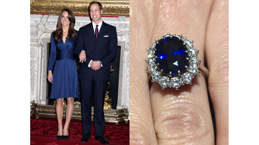 Prince William gave Kate Middleton the famouse sapphire-and-diamond ring that belonged to his mother, Princess Diana.