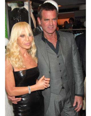 Donatella Versace with cool, Single