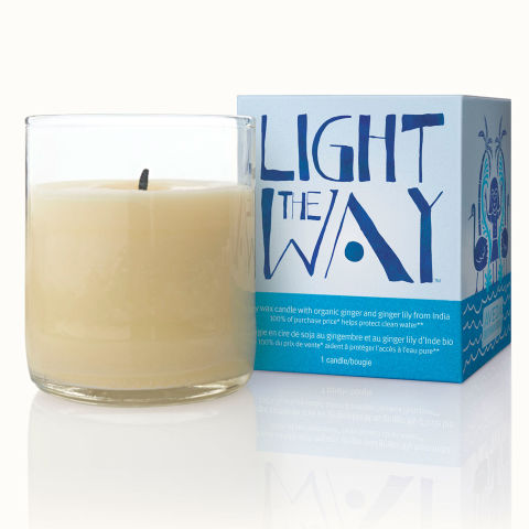 During the month of April, 100% of the profits from Aveda's Light the Way candle go to the Global Greengrants Fund, which provides clean water to communities without access to it. Aveda Light the Way Candle 2014, $12, aveda.com.