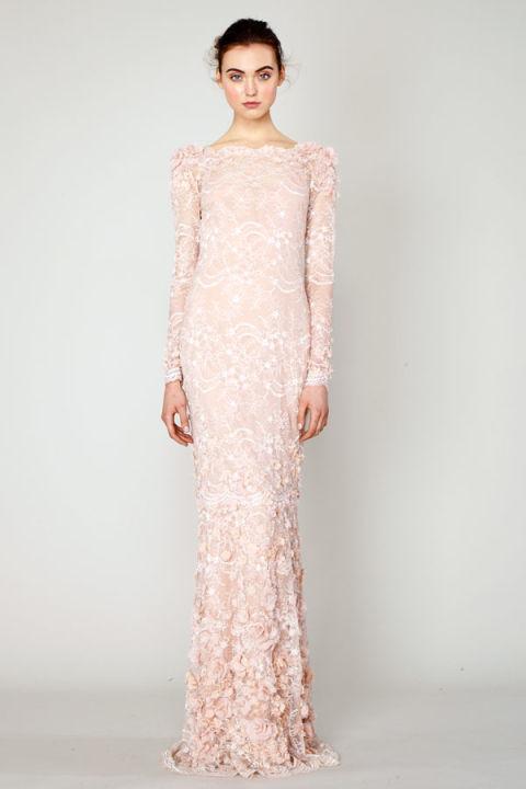 More best looks of resort 2014 best resort 2014 fashion for Long sleeve blush wedding dress