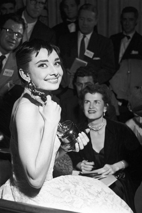 At the 1954 Academy Awards.<br />